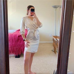 Maeve By Anthropologie Beige Silky Dress XSP